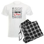 Oral Cancer Persevere Men's Light Pajamas