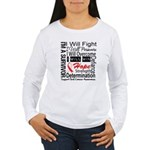 Oral Cancer Persevere Women's Long Sleeve T-Shirt