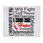Oral Cancer Persevere Throw Blanket