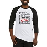 Oral Cancer Persevere Baseball Jersey