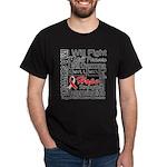 Oral Cancer Persevere Dark T-Shirt