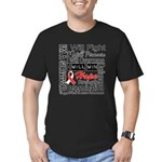 Oral Cancer Persevere Men's Fitted T-Shirt (dark)