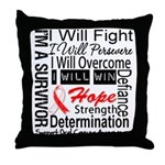 Oral Cancer Persevere Throw Pillow