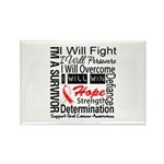 Oral Cancer Persevere Rectangle Magnet (10 pack)