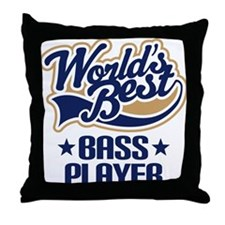 Worlds Best Bass Player Throw Pillow