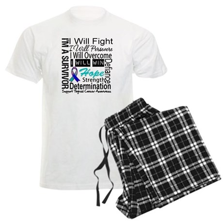 Thyroid Cancer Persevere Men's Light Pajamas