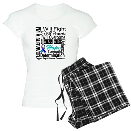 Thyroid Cancer Persevere Women's Light Pajamas
