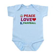 Peace Love Paintball Designs Infant Bodysuit