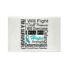 Cervical Cancer Persevere Rectangle Magnet