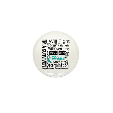 Cervical Cancer Persevere Mini Button