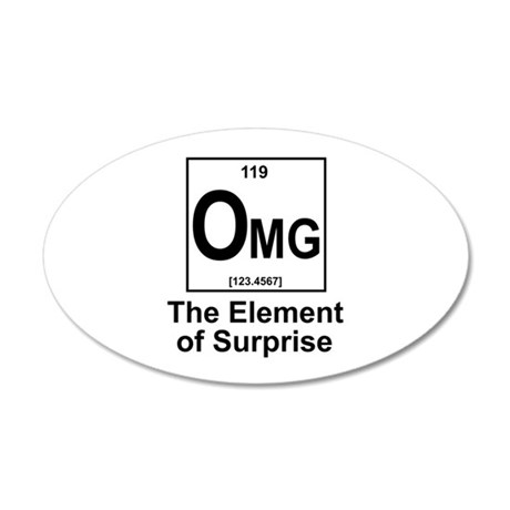 Element Omg 20x12 Oval Wall Decal