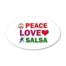 Peace Love Salsa Designs 35x21 Oval Wall Decal