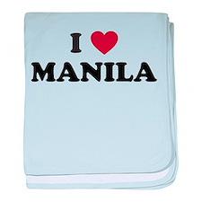 I Love Manila baby blanket