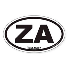 Zuid Africa ZA Euro Oval Decal