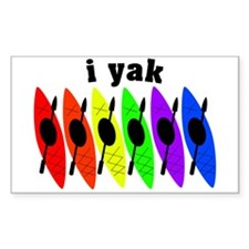 kayak rainbow i yak.PNG Decal