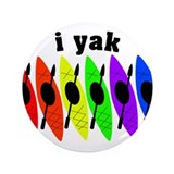 kayak rainbow i yak.PNG 3.5&quot; Button (100 pack)