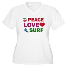 Peace Love Surf Designs T-Shirt