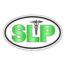 SLP Green Oval Decal