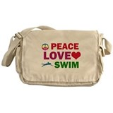 Peace Love Swim Designs Messenger Bag