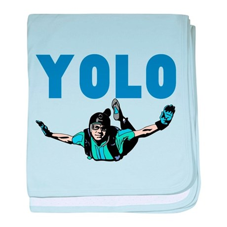 Yolo Skydiving baby blanket