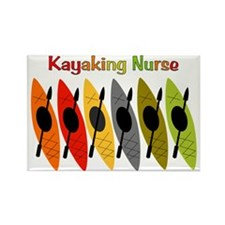 Kayaking Nurse.PNG Rectangle Magnet