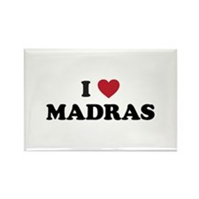 I Love Madras Rectangle Magnet