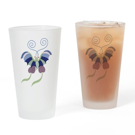 Japanese Butterfly Drinking Glass