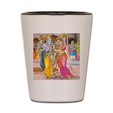 Wedding of Rama and Sita Shot Glass