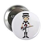 """Mod Girl Guitarist 2.25"""" Button (100 pack)"""