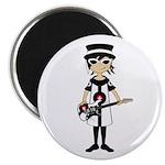Mod Girl Guitarist Magnet