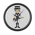 Mod Girl Guitarist Large Wall Clock