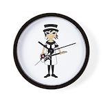 Mod Girl Guitarist Wall Clock