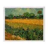 Van Gogh View of Arles with Irises Throw Blanket