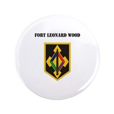 "Fort Leonard Wood with Text 3.5"" Button (100 pack)"