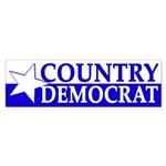 Country Democrat (bumper sticker)