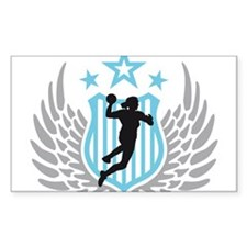female handball player Decal