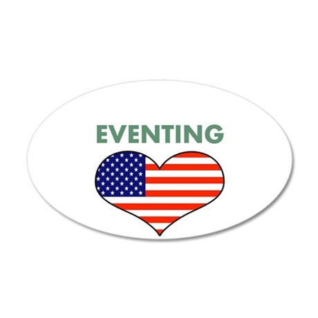 LOVE EVENTING STARS AND STRIPS 35x21 Oval Wall Dec