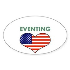 LOVE EVENTING STARS AND STRIPS Decal