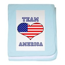 LOVE TEAM AMERICA STARS AND STRIPES baby blanket