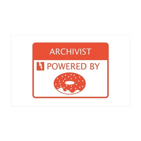 Archivist Powered by Doughnuts 35x21 Wall Decal