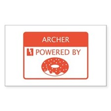 Archer Powered by Doughnuts Decal