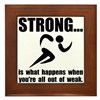 Running Strong Framed Tile