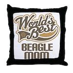 Beagle Mom (Worlds Best) Throw Pillow
