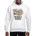 Beagle Mom (Worlds Best) Hooded Sweatshirt