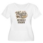Beagle Mom (Worlds Best) Women's Plus Size Scoop N
