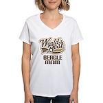 Beagle Mom (Worlds Best) Women's V-Neck T-Shirt