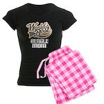Beagle Mom (Worlds Best) Women's Dark Pajamas