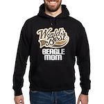 Beagle Mom (Worlds Best) Hoodie (dark)