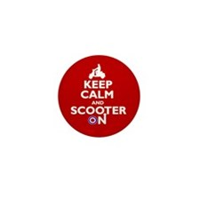 Keep Calm Scooter On (2) Mini Button (10 pack)