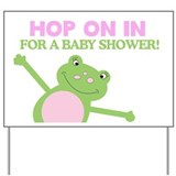 Leap Frog Girl Baby Shower Yard Sign